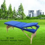 조정가능한 백레스트 Mt 009b를 가진 나무로 되는 휴대용 안마 테이블