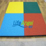 Плитки резины спортивной площадки плиток настила цвета резиновый