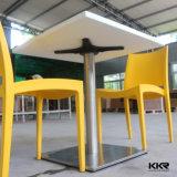 800X800mmの正方形のレストランの家具の黒いダイニングテーブル