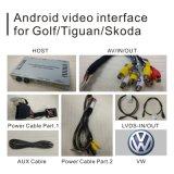VWのゴルフ7 Touran Passat Mib2ビデオインターフェイスアップグレードの接触運行ミラーリンク鋳造物スクリーンのGoogleの異なったマップのためのアンドロイド5.1 4.4 GPSの航法システムボックス