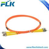 Шнур заплаты дуплекса Om3 Sc/LC/FC/St/E2000/MTRJ/Mu PC/Upc/APC однорежимный мультимодный симплексный водит шлямбур шнура заплаты оптического волокна сборки кабеля