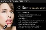Weiche definierende Lippenbleistift Qibest hartnäckige Stütze den ganzen Tag 12 Farben-Lippenzwischenlage-Bleistift