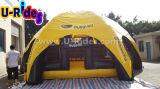 Tenda gonfiabile gialla e nera del piedino 6 del ragno per il gioco del rodeo del toro
