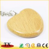 Encadenamiento dominante de madera de Engravable del corazón del Keyring de madera de encargo de la dimensión de una variable