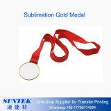Oro del espacio en blanco de la sublimación del tinte/plata imprimible/medalla de cobre