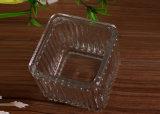 Contenitore della candela di vetro modellato del quadrato