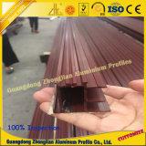 Profils en aluminium de guichet de glissement avec les graines en bois