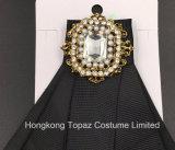 Самый последний Brooch Rhinestone верхнего качества способа для Brooch Bowknot Silk связи Costume женщин (CB-03)