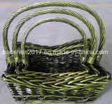 Cestas de mimbre tejido mezcla de algas marinas para Vegetabled y frutas