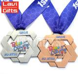 Hot Sale Custom Alliage de zinc moulé sous pression, médaille d'attribution de tentures de sport
