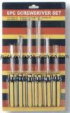 Chave de fendas definir os PCS 6 fendas no Hardware da Placa Blister