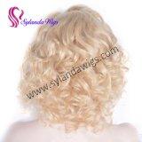 613# русые вьющиеся кружева передней Wig природных визирной линии Premier стандартов качества природных волнистых волос человека Wig Бразилии
