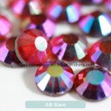 Ss20/5mm de Lijm van Siam Ab op het AchterBergkristal van de Folie van Bergkristallen (fB-Ss20 Siam ab)
