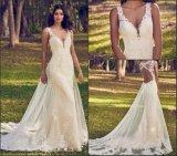 Кружевной устраивающих свадьбу платье Custom Русалки кружева Русалки свадебные платья A8499