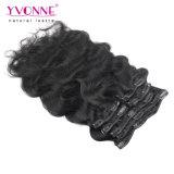 Yvonne brasileño Venta caliente Clip Hair Extension 7 piezas de color natural