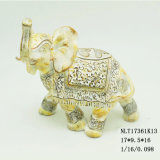 新製品の樹脂のPolyresin Customedの結婚祝いのインドゾウの彫像