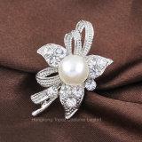 Большие Pearl+Rhinestone Vintage Brooch штифты для свадебного платья женщин Brooches букеты (BR-13)