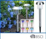 Lámpara solar del jardín del acero inoxidable de la lámpara de la decoración solar del jardín