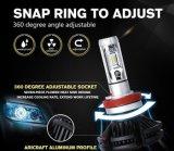 12-24V極度の明るい6000lm 50W H4 H7 5202 LED X3自動車LEDのヘッドライト