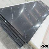 12mm preto puro a folha de superfície sólida para a parte superior do espelho