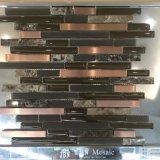 Mezcla del acero de cristal e inoxidable, mosaico de la pared para el cuarto de baño, cocina (M855099)