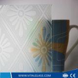 Vidrio modelado/calculado del ácido de Mistlite grabado al agua fuerte para el vidrio de la decoración/del cuarto de baño