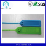 荷物の追跡のための別のカラーPVC RFIDシールの札