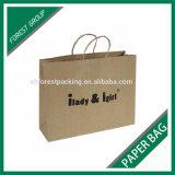 Kraft impreso personalizado Embalaje Compras bolsa de papel