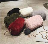 柔らかい球のショルダー・バッグのハンドバッグが付いているプラシ天のメッセンジャー袋