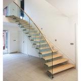 Escalera de madera de Guangzhou de la escalera de la escalera para el diseño casero
