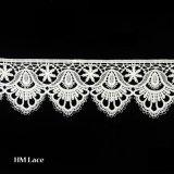 최신 디자인에 의하여 부채 모양으로 만들어지는 레이스 손질 미색 옷 액세사리 의복 손질 L163
