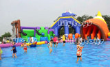 Shell-aufblasbarer Wasser-Park für Land