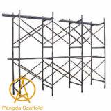 ステップ建築構造のための開いた梯子フレームの足場