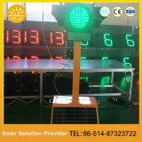 Signaux lumineux solaires extérieurs portatifs de feu de signalisation pour la chaussée