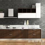 水晶石造りのカウンタートップの食料貯蔵室の高級家具の黒いクルミの利得のカスタム現代食器棚