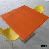 Tabella di superficie solida di marmo artificiale del quadrato del ristorante (T1711277)