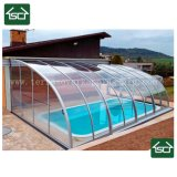 La pioggia inclemente del tempo di protezione, vento o nevica ' coperchio della piscina 8
