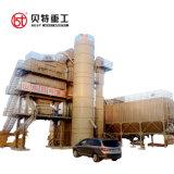 máquina de mistura de plantas de asfalto na construção rodoviária