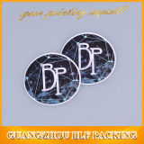 Brown Kraft pegatinas de logotipo personalizado