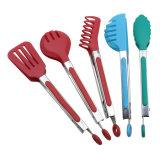 Инструмент кухни ручки нержавеющей стали TPR силикона головной варя схваты еды BBQ