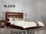 A13 미국식 침실 직물 침대 가죽 침대