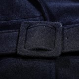 Готский тип военной формы зимы людей Y-697 большой поворачивает вниз пальто ворота длиннее