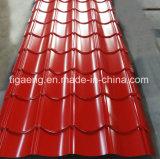 유럽에 있는 색깔 Coated Steel Building Material Glazed PPGI Roof Tile Popular