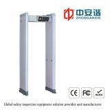 移動式機能の戸枠の金属探知器のゲートを通るIP55 LCDのタッチ画面24/33のゾーンのデジタル金属探知器の歩行