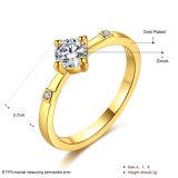 De goud Geplateerde Juwelen van de Manier van de Ring van Emgagement van het Huwelijk van het Zirkoon