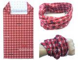 Foulard tubolare del poliestere dei prodotti della fabbrica della Cina del collo rosso su ordinazione di Microfiber
