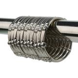 Anel redondo deslizante chuveiro de aço inoxidável de ganchos de metal
