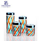 Bottiglia di vetro di memoria di 2 litri con l'articolo da cucina giornalmente utilizzato della bottiglia di vetro del coperchio nel formato 4