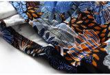 El pavo real coloreó la alineada grande de la Rodilla-Longitud de la falda de la alta cintura del cuello alta