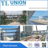 Prefab Steel Work gold Steel Structure Garage Because Shop in Clouded